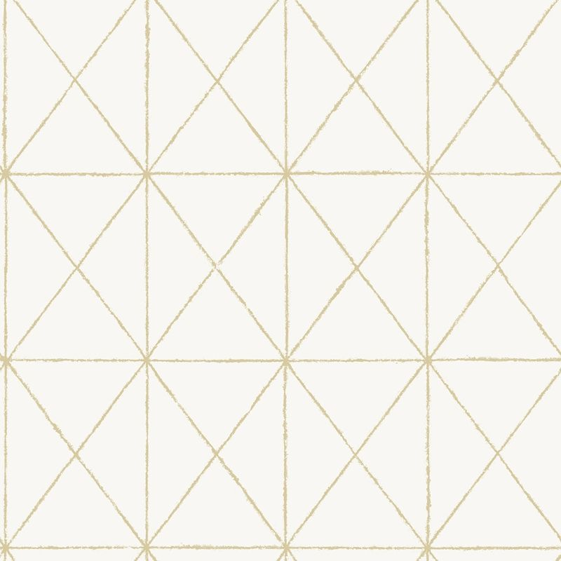 Nus3577 White Gold Get In Line Abstract Peel And Stick Wallpaper In 2020 Gold Geometric Wallpaper Geometric Wallpaper White And Gold Wallpaper