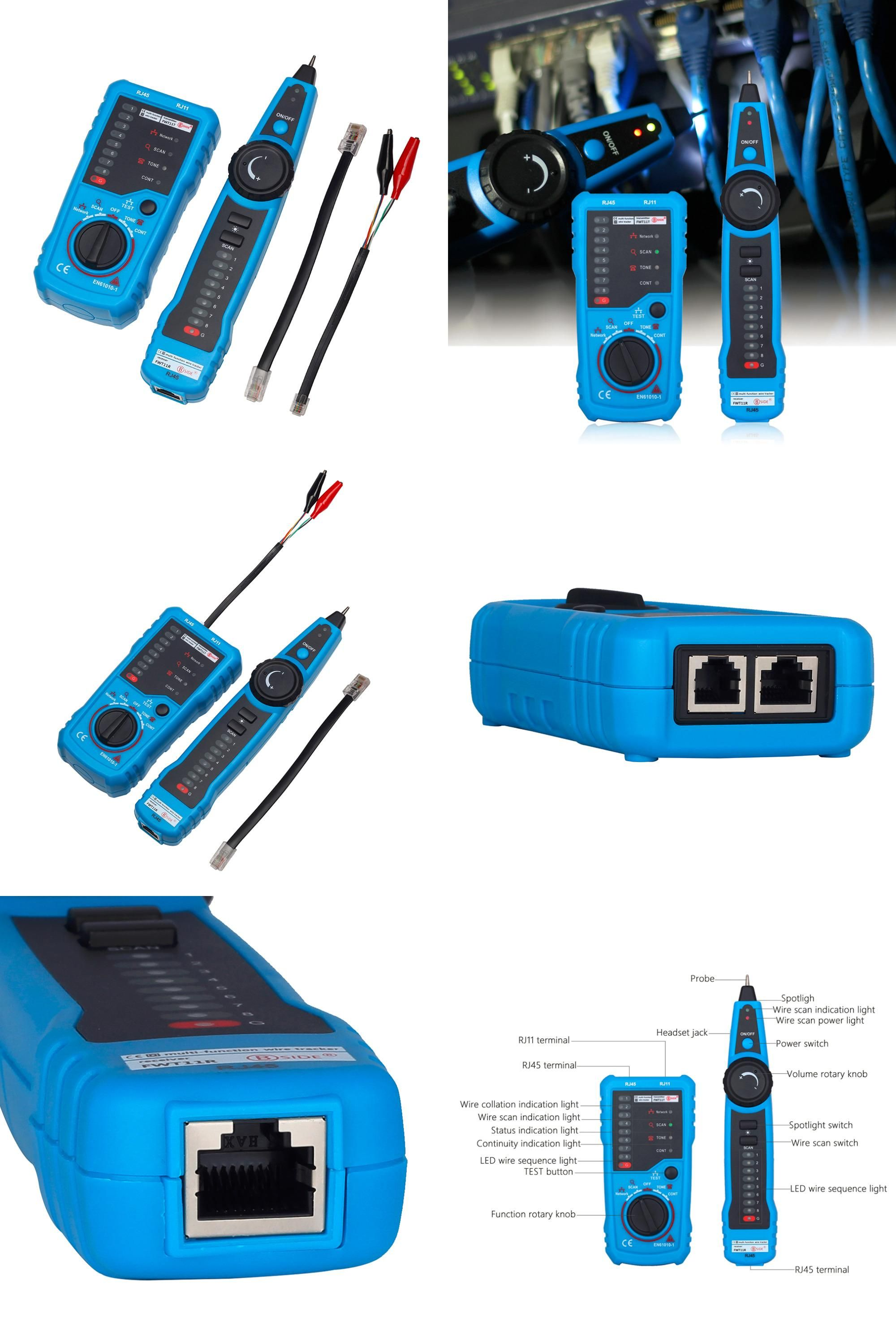 BSIDE FWT11 Handheld RJ45 RJ11 Network Telephone Cable Tester Wire line Tracker.