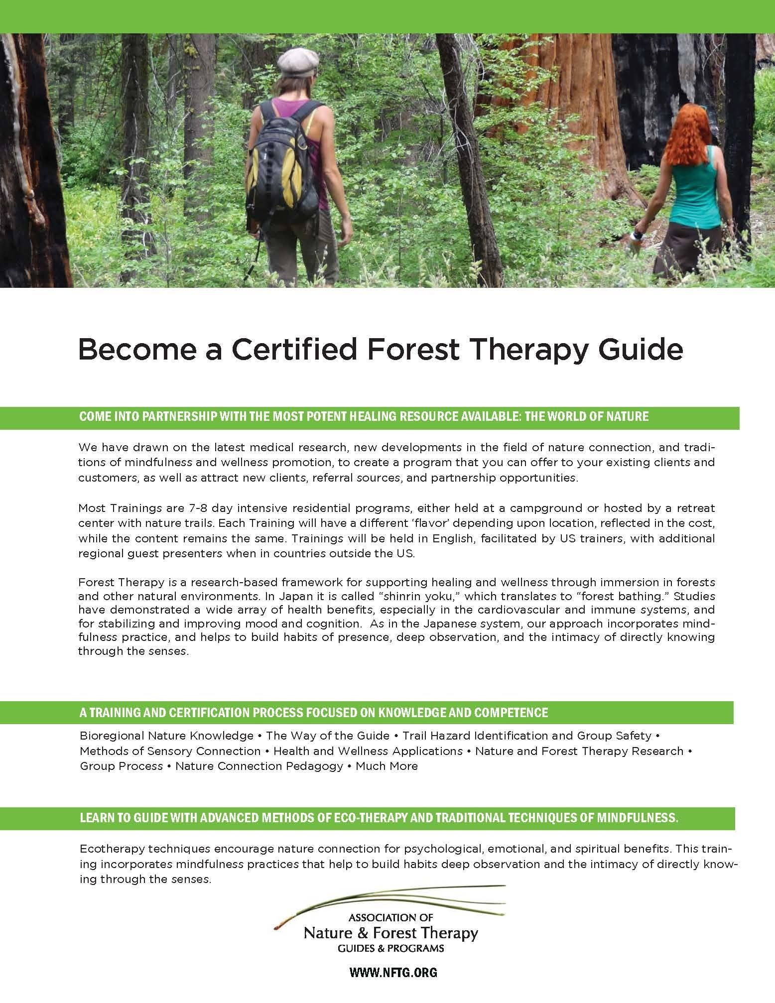 After learning about forest bathing, this was interesting to come across. It could be a cool opportunity to teach people how forests can be restorative to health