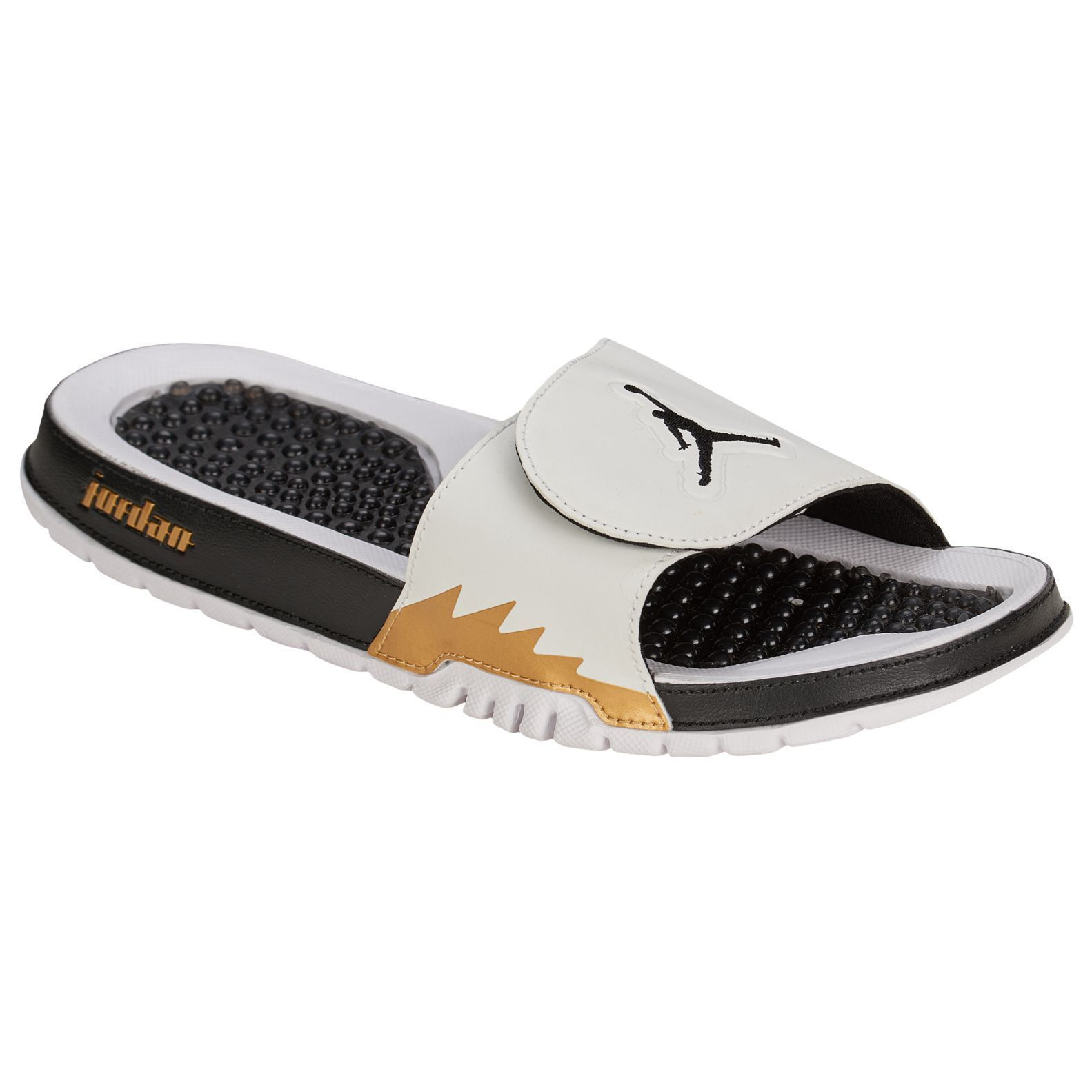 0d6741283545d Nike Air Jordan Mens Retro 5 Hydro Slides Shoes Flip Flops Size 11 ...