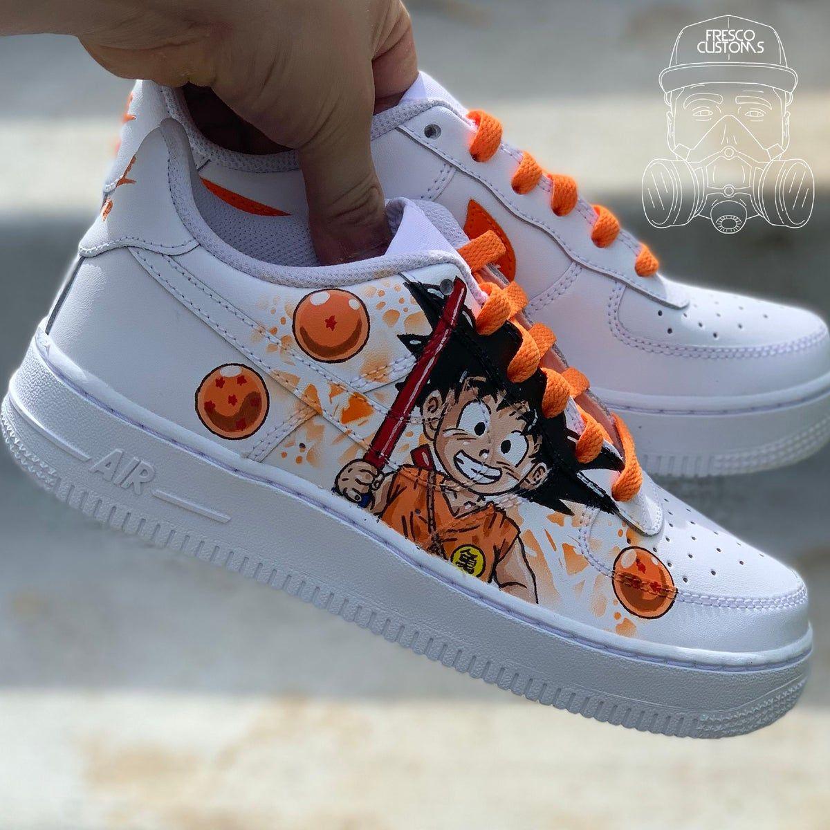 Custom Baby Goku Nike Air Forces in