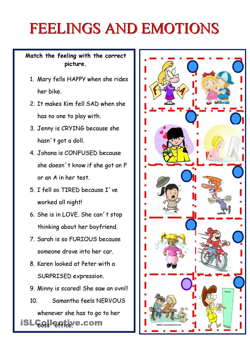 Free Worksheet Feelings Worksheets 17 best images about emotions spl on pinterest feelings student centered resources and english