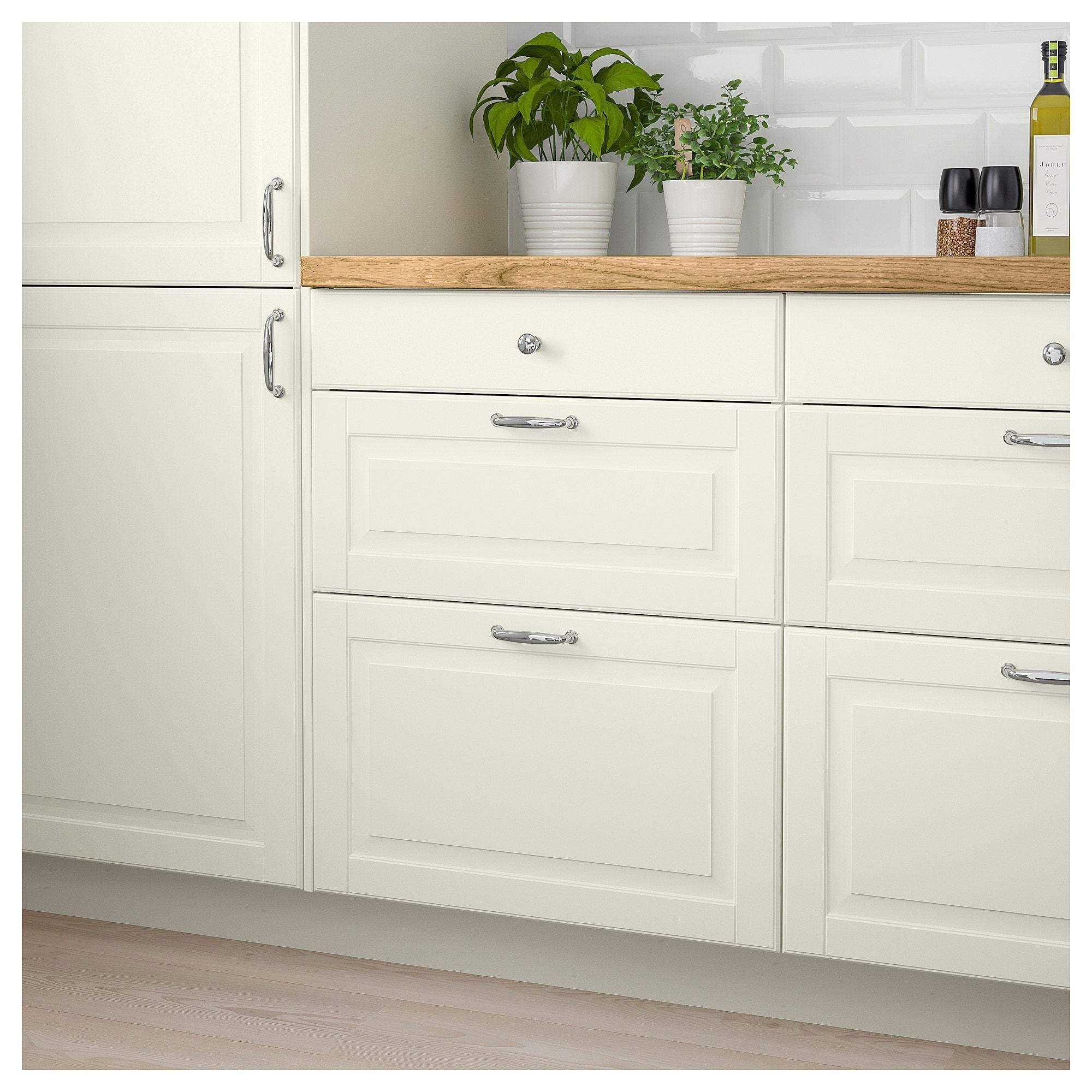 Best Bodbyn Drawer Front Off White 30X10 Kitchen Remodel 400 x 300