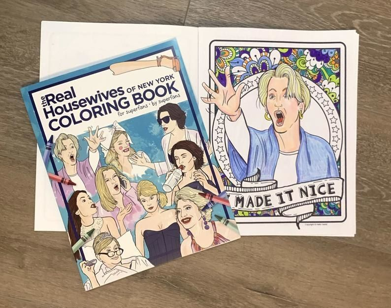 25 Things To Help Keep Pop Culture Lovers Busy Coloring Books Housewives Of New York Real Housewives
