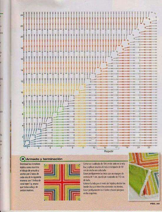Patron cojin crochet | Cojín cruzado | Pinterest | Croché, Ganchillo ...