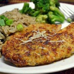 Photo of Parmesan Crusted Tilapia Fillets Recipe– use chile olive oil for a spicy flavor…