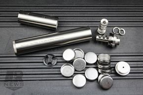 Look at inside of silencer for gun dont take  genius to make one their also best cool stuff images in guns ammo pistols firearms rh pinterest