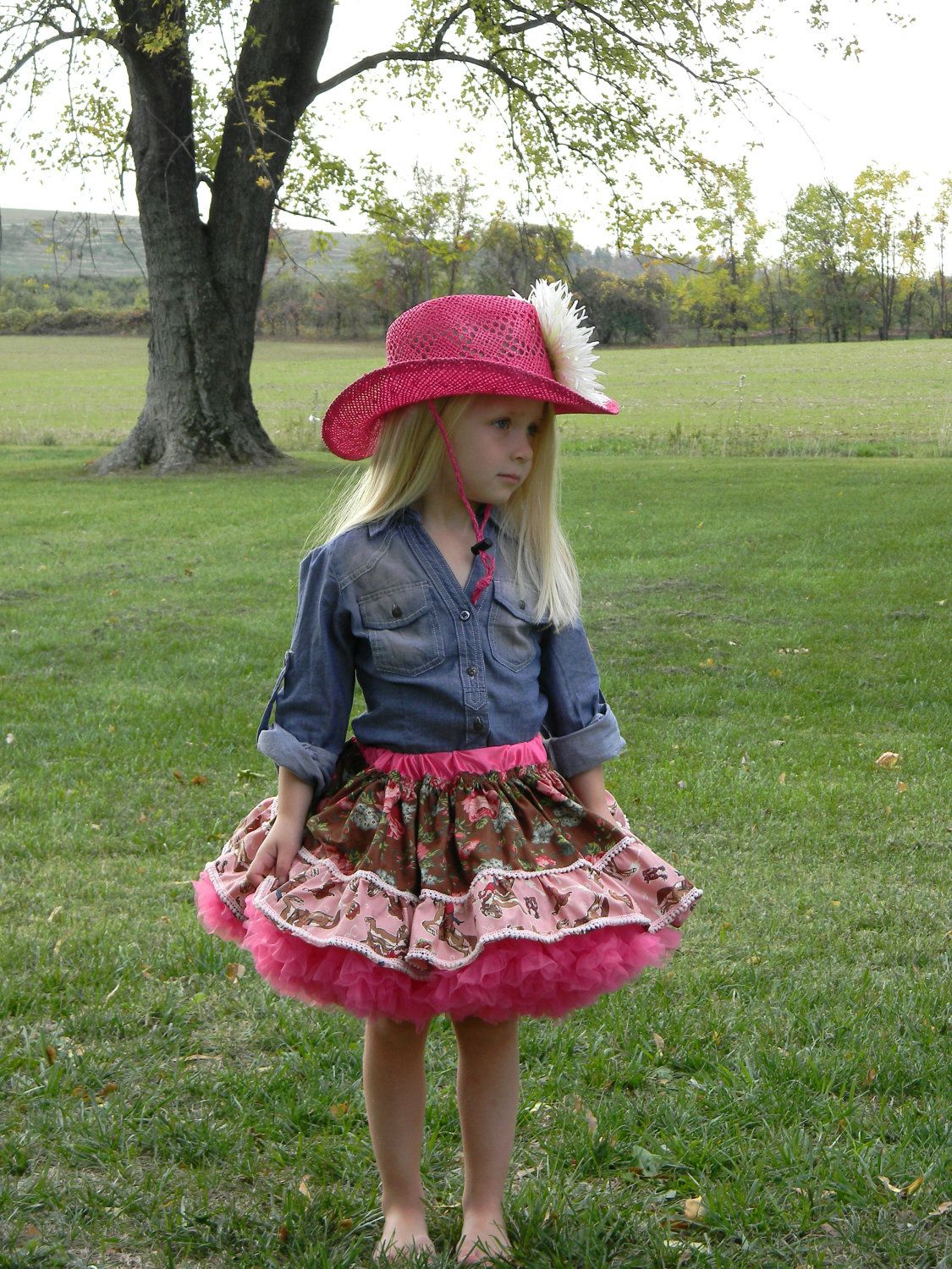 4c760c749 Girls Pink Cowgirl Pettiskirt.  48.00