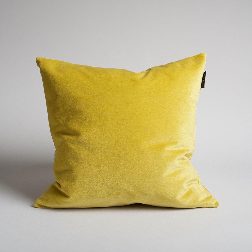 Vibrant cotton velvet pillow in Sun // #home #interiordesign #burkelman