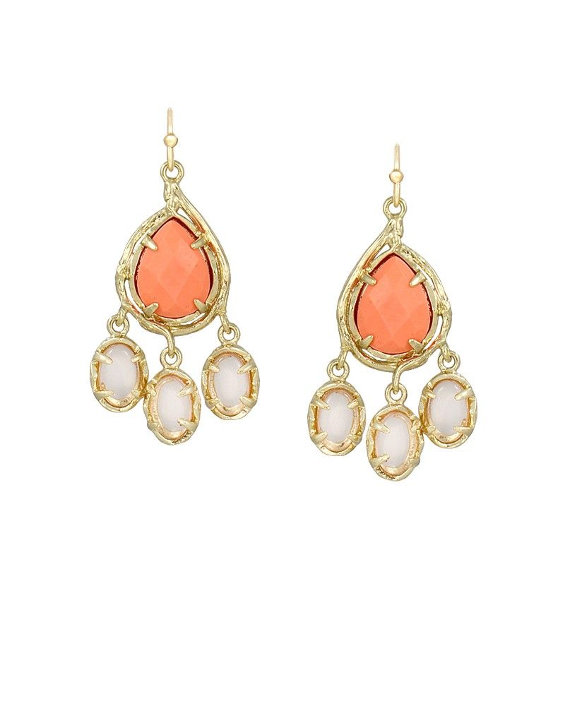 Joy chandelier earrings in orange fig from kendra scotts new joy chandelier earrings in orange fig from kendra scotts new tropic chic collection arubaitofo Images