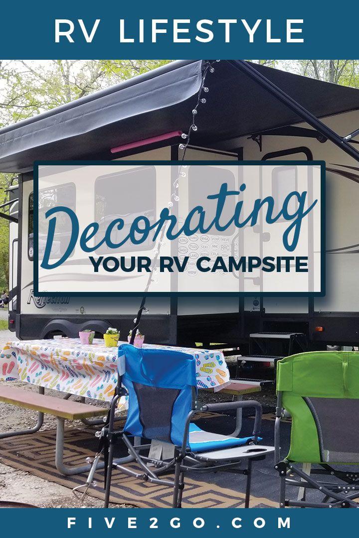 RV CAMPSITE SETUP AND DECORATING #campsiteideas