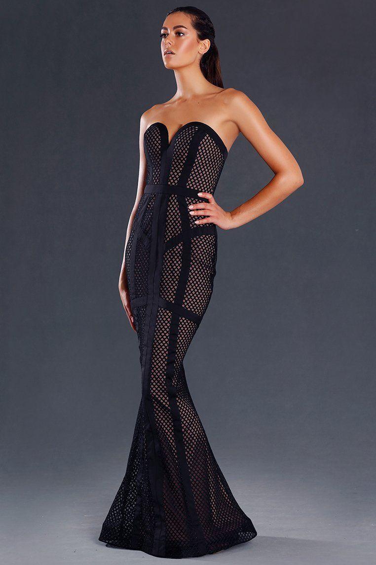 f881e373b2 Miss Runway Fashion - Brooklyn Mesh Formal Gown - Black  Pre-Order ...