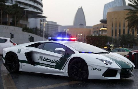 Dubai's police fight crime in outrageous supercars