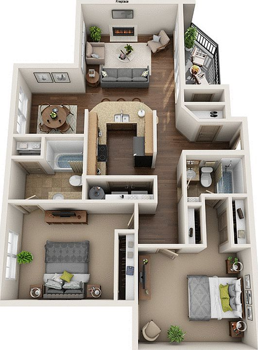 Barton Creek Landing #apartmentfloorplans