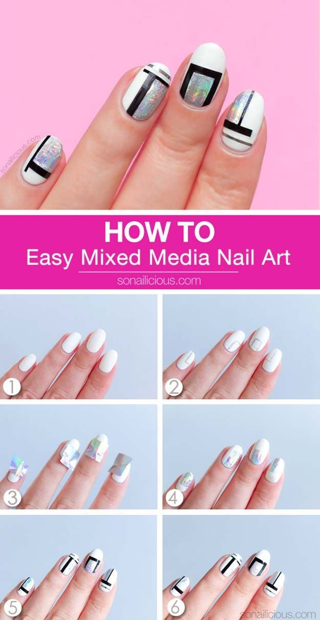 28 Brilliantly Creative Nail Art Patterns - DIY Projects ...   Easy Nail Art For Teenagers Step By Step