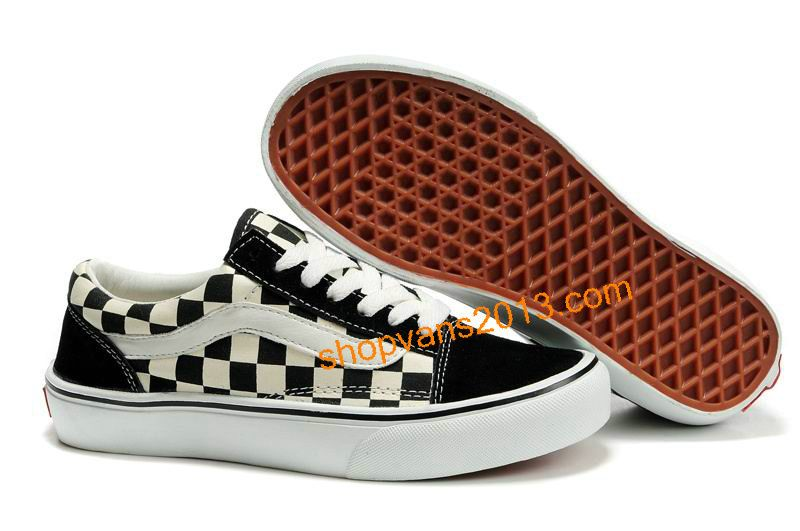 Vans Classics Checkerboard Old Skool Black White