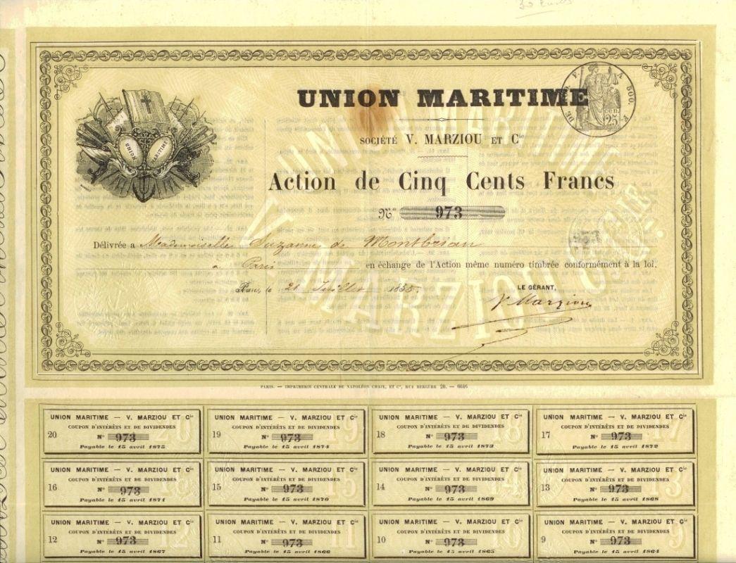 Union Maritime, Paris, 1855