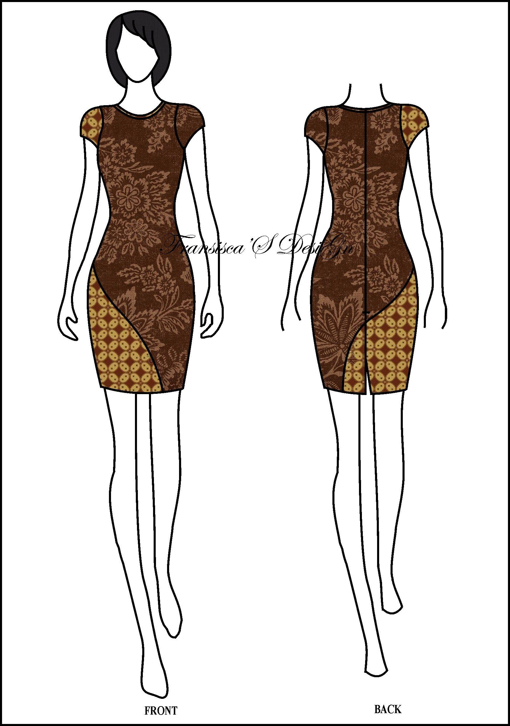 Dress span kombinasi lengkung bawah. #FashionDesigner #Butik