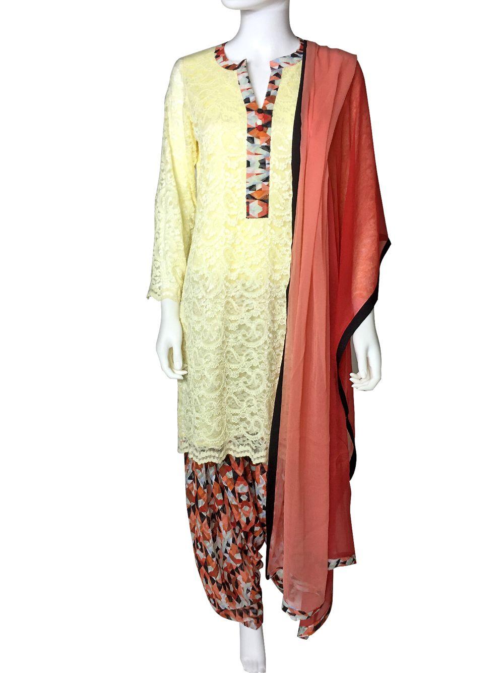 Shop Online Exclusive PinkPhulkari California Patiala Salwar Suit ...