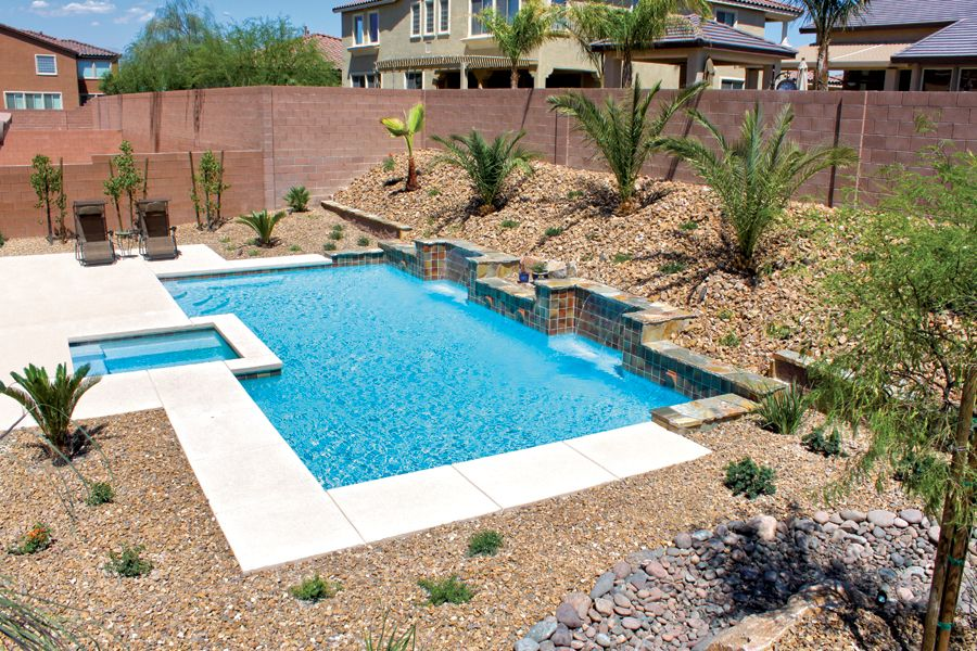 Inground Pool Design Pictures Las Vegas Nv Swimming Pools Backyard Residential Pool Swimming Pool Landscaping