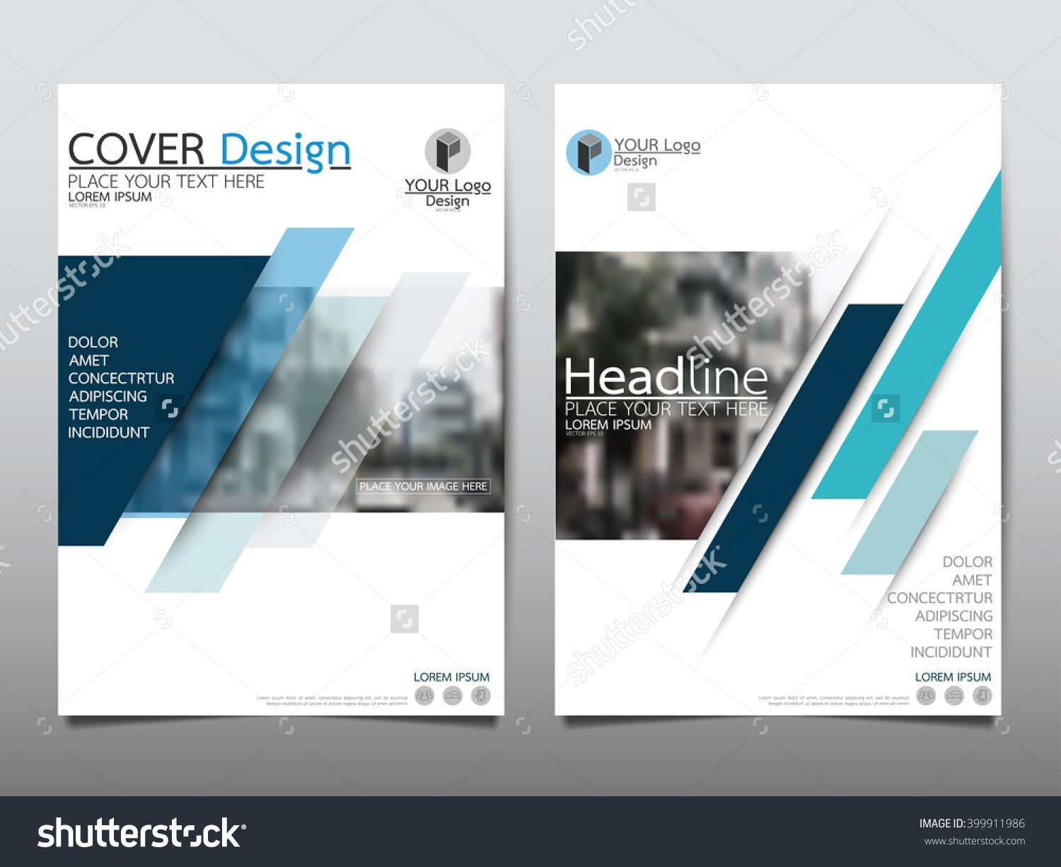 brochure presentation template - blue annual report brochure flyer design template vector