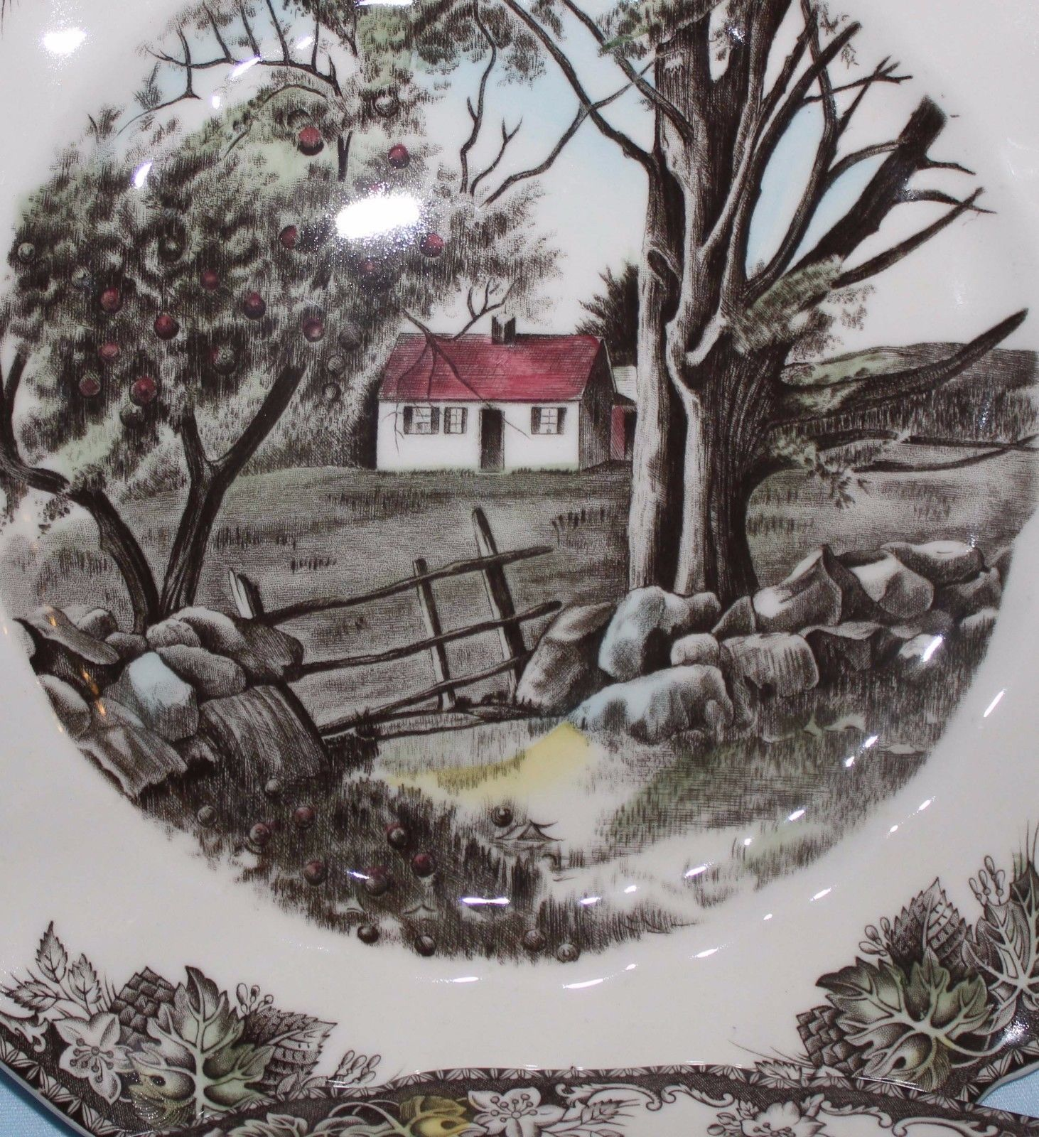 Set of 4 Johnson Brothers Plates Friendly Village Genuine Hand Engraved Rec US | eBay
