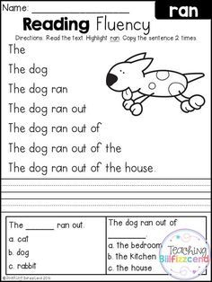 FREE Reading Fluency and Comprehension (Set 2 ...
