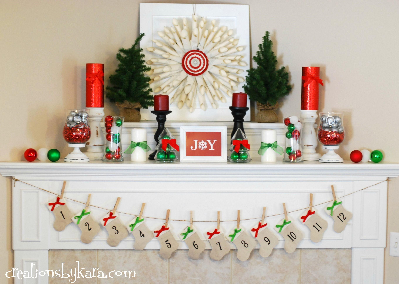 Christmas Craft Ideas 2012 Part - 24: Christmas Mantel Decor 2012 015