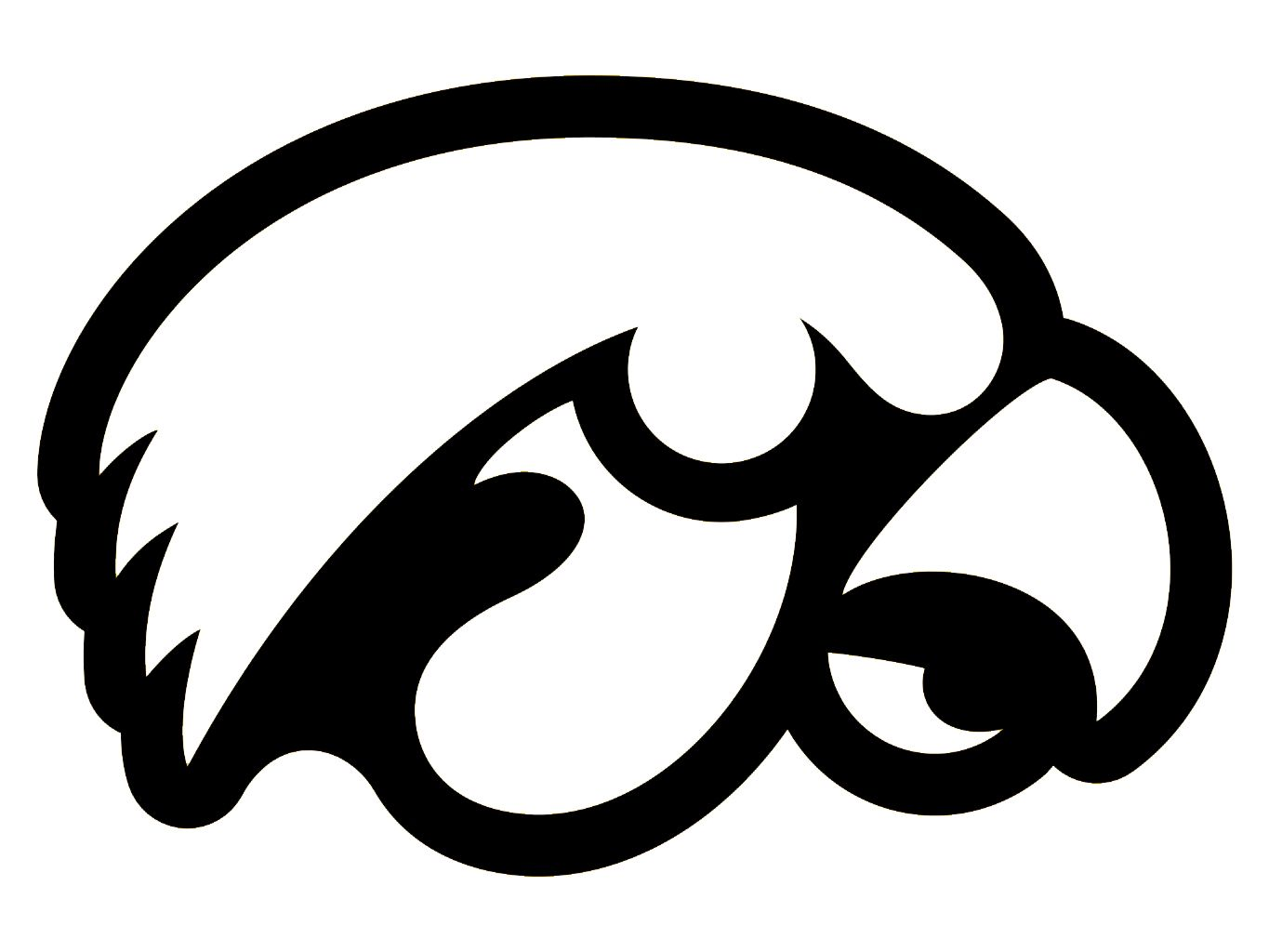 Iowa Coloring Pages Details About Iowa Hawkeyes College Outlined