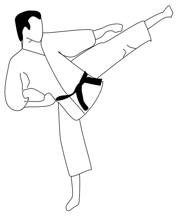 Coloring Page Karate Img 16116 Coloring Pages Graphic Design Art Hand Painting Art