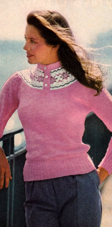 Fair,Isle sweaters a must have in the early preppy,80\u0027s