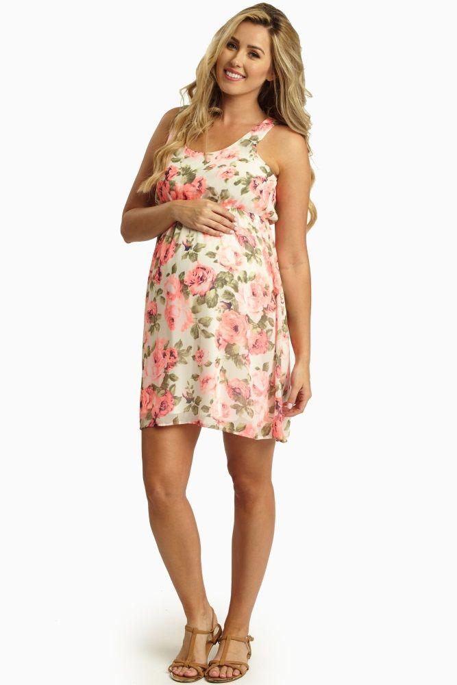 2dfd66b39e5e Neon floral dress pink blush maternity | Baby shower | Pink blush ...