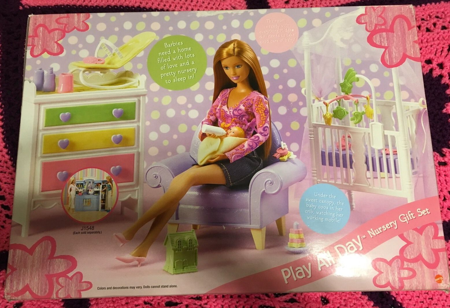 Barbie Mobili ~ Barbie happy family midge with baby play all day nursery gift set