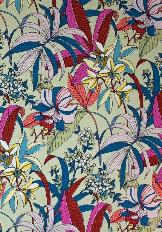 Alexander Henry Floriana-8588D Tea Dye #tropicalpattern