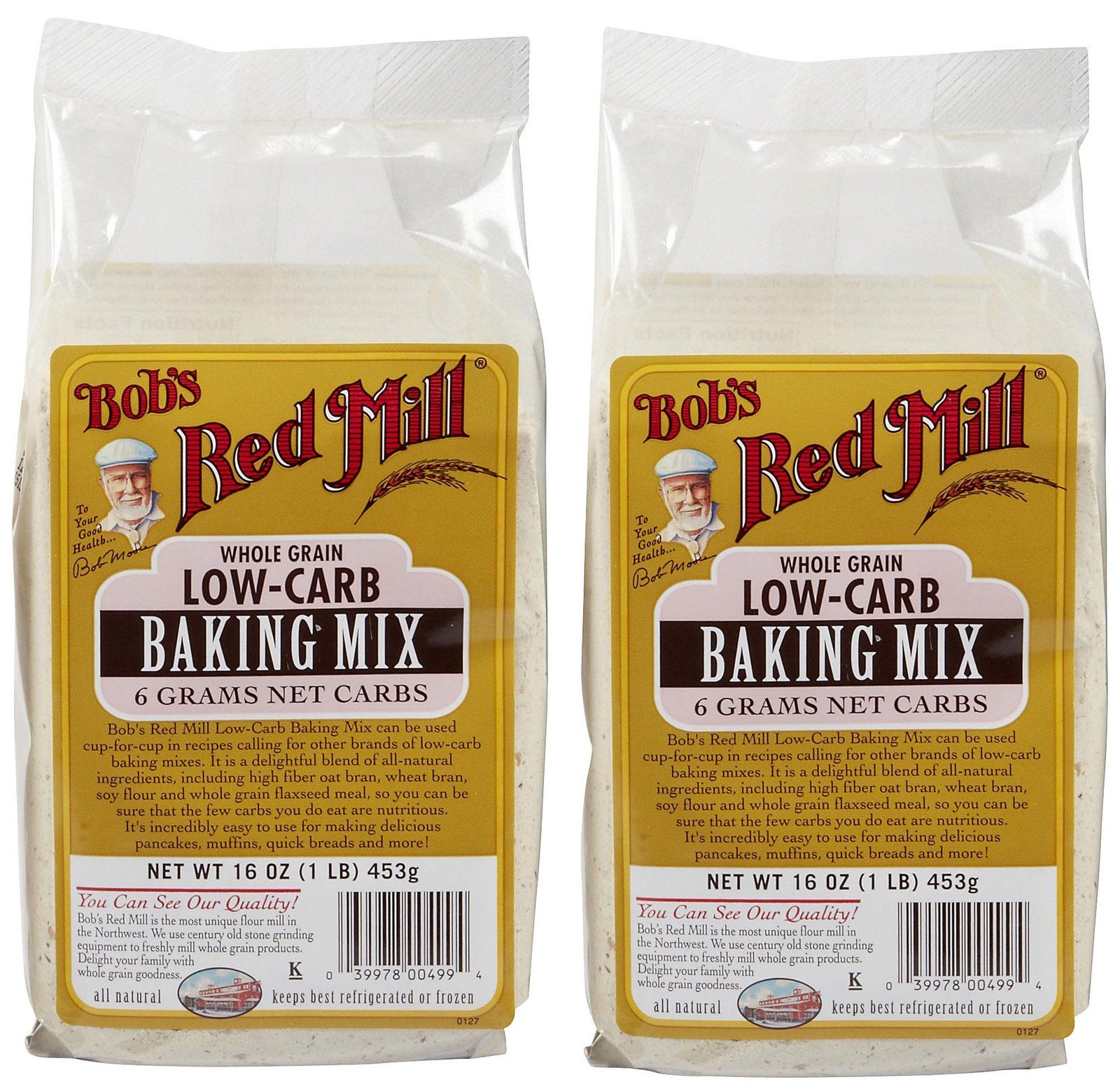 Bobs red mill low carb mixes 16 oz 2 pk whole grain