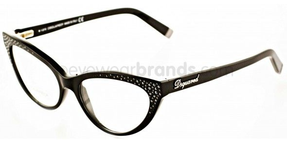 ce7e23cf2170 Dsquared2 DQ 5029 Muriel 001 BLACK JEWELS Dsquared2 Glasses