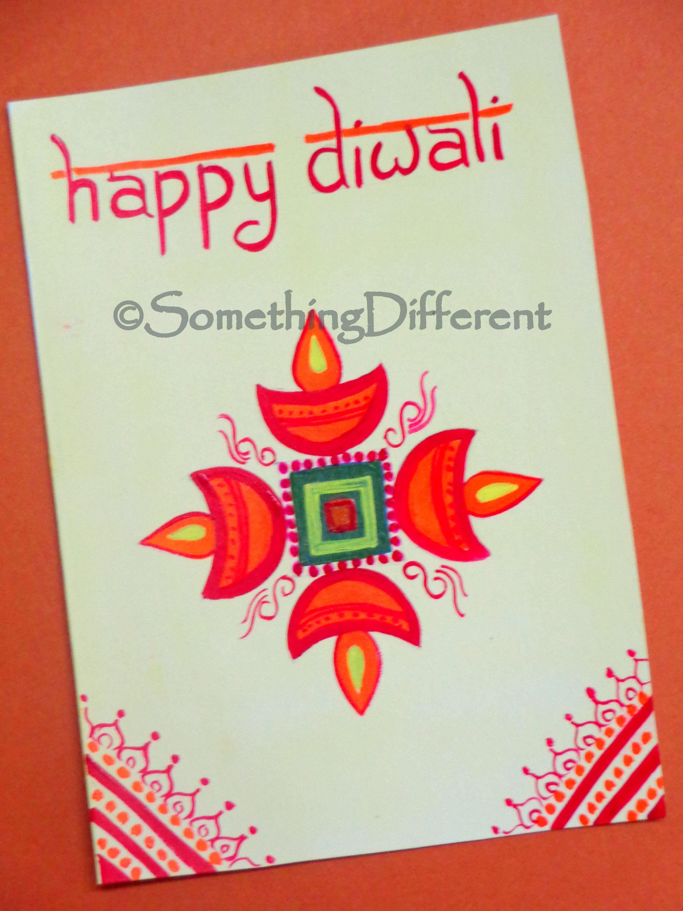 Diwali Greeting Card Handmade Diwali Greeting Cards Diwali Greeting Cards Diwali Card Making