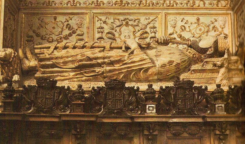 The tomb of Henry II of Castile.