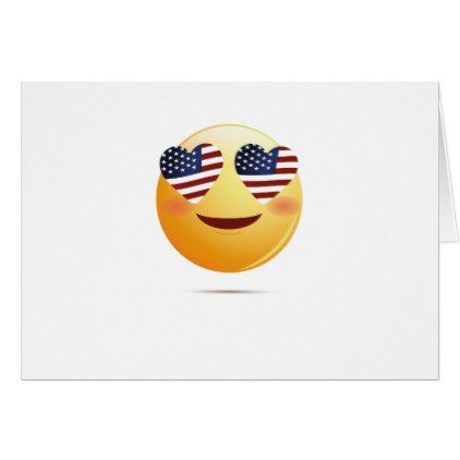4th July Emoji National Independence Funny Gift Card ...