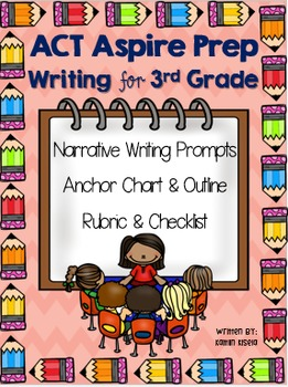 3rd Grade Act Aspire Writing Test Prep Lets Get Writing 3rd