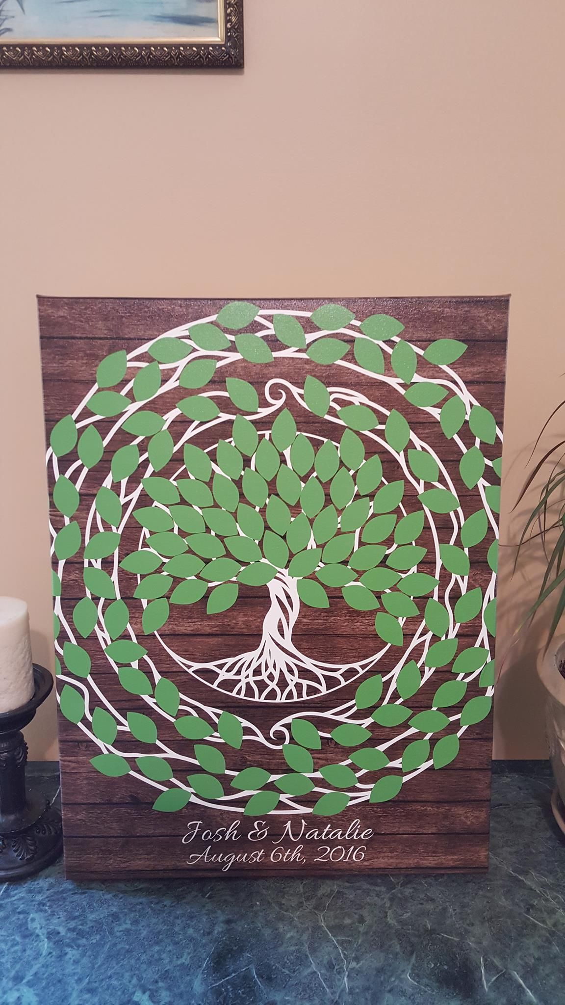 Tree of Life Wedding Guest Book Alternative | 125 Signature Spaces ...