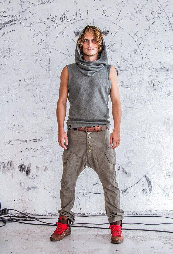 Pantalon de harem entrejambe goutte urbain / / slim par VALOdesigns