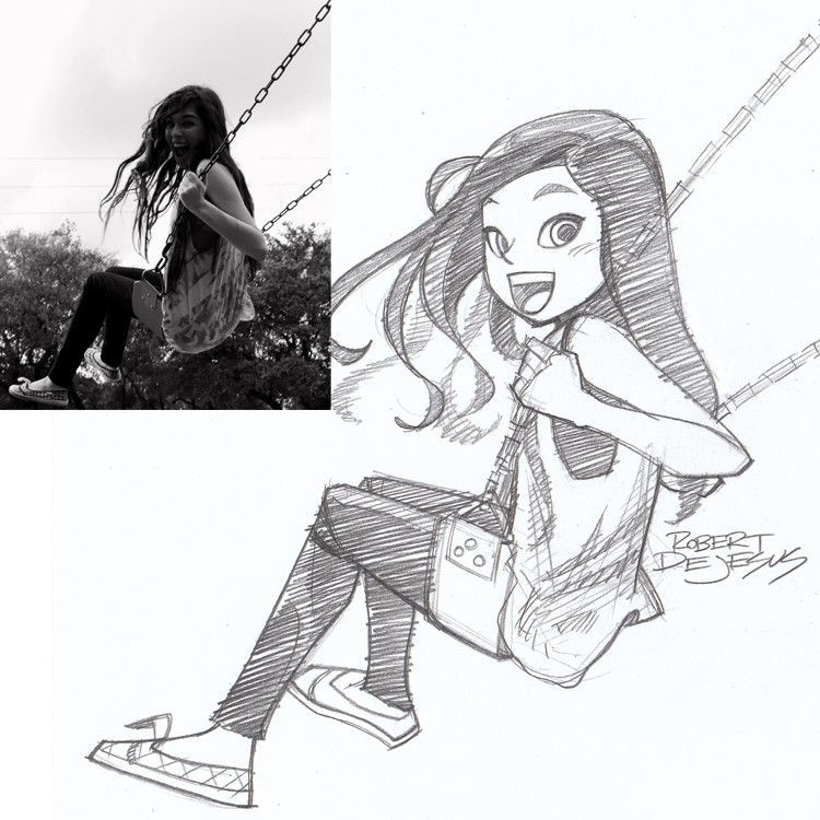 Anime Characters From Real People By Robert De Jesus Photo Vide Cartoon Drawings Drawing People Pencil Portrait