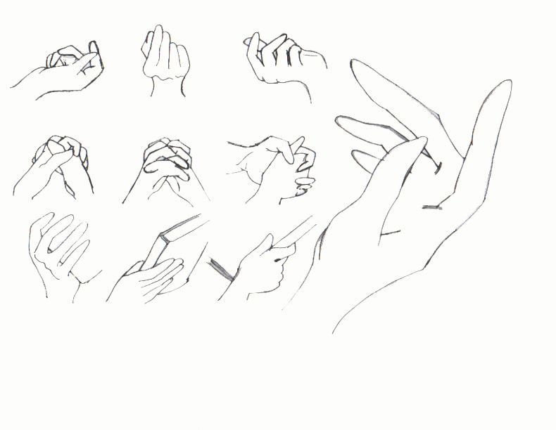 anime  poses  | Random hand poses by ~homonculus1568 on deviantART