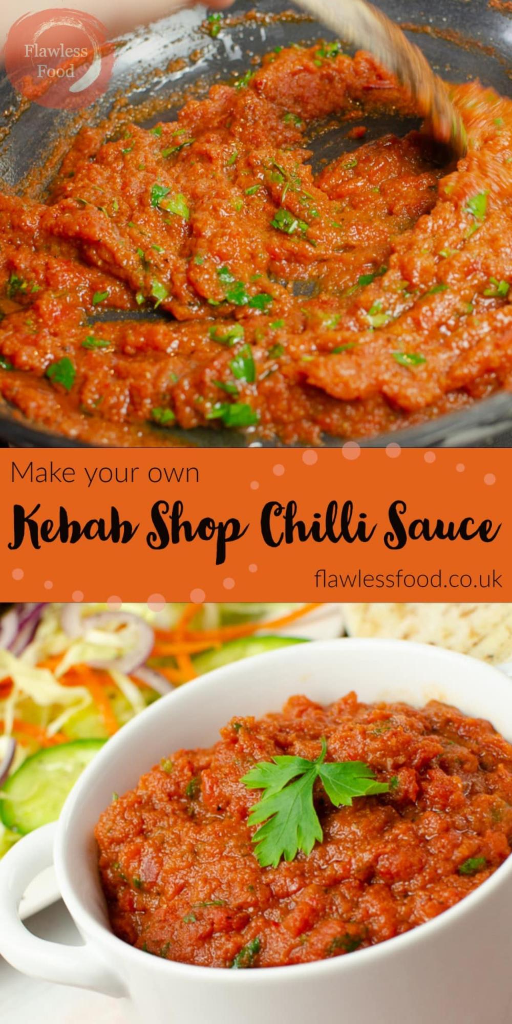 kebab shop chilli sauce recipe in 2020 chicken kebab recipe chilli sauce kebab recipes pinterest