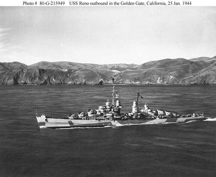 USS Reno, 1944