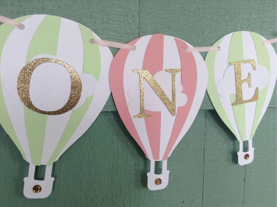 Embossed balloon card toppers 4 pastel colors 10 pieces