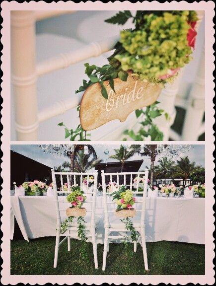 Rustic Wedding By Marlynproduction Bride Groom Chairdecoration