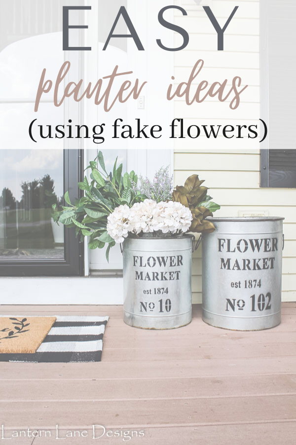 FRONT PORCH DECOR IDEAS USING FAKE FLOWERS~HOW TO EASILY ADD FAKE FLOWERS TO YOUR PORCH PLANTERS