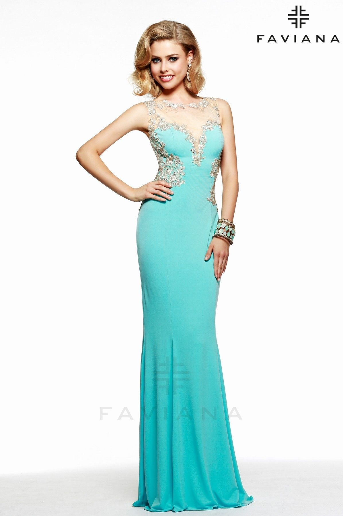 Wedding Tiffany Blue Dresses faviana s7534 tiffany blue lace detail glamour ipaprom ipaprom